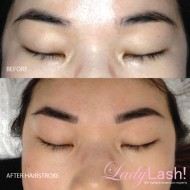Cosmetic Tattoo Eyebrows Hairstroke Before and After